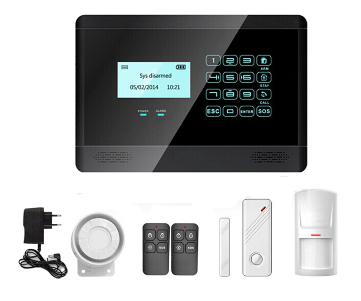 Horich Smart Wireless GSM Home Security System with LCD Display