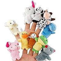 BESTOMZ Marionetas de Dedos Animal Terciopelo Dedo Muñecas Niños Juguetes 10pcs