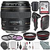 Canon EF 85mm f/1.8 USM Lens and Xpix Platinum Bundle w/24pc SD Card Case + 16GB + Xpix Telephoto & Wide-angle Lens Filter Kit & Xpix Cleaning Kit + More