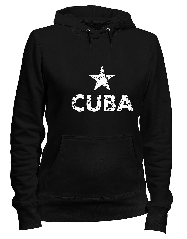 Speed Shirt Felpa Donna Cappuccio Nero TSTEM0152 Cuba