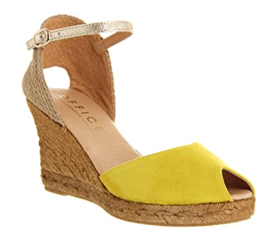92c372535a75 Office Daisy Wedge Espadrille Yellow Suede - 7 UK: Amazon.co.uk: Shoes &  Bags