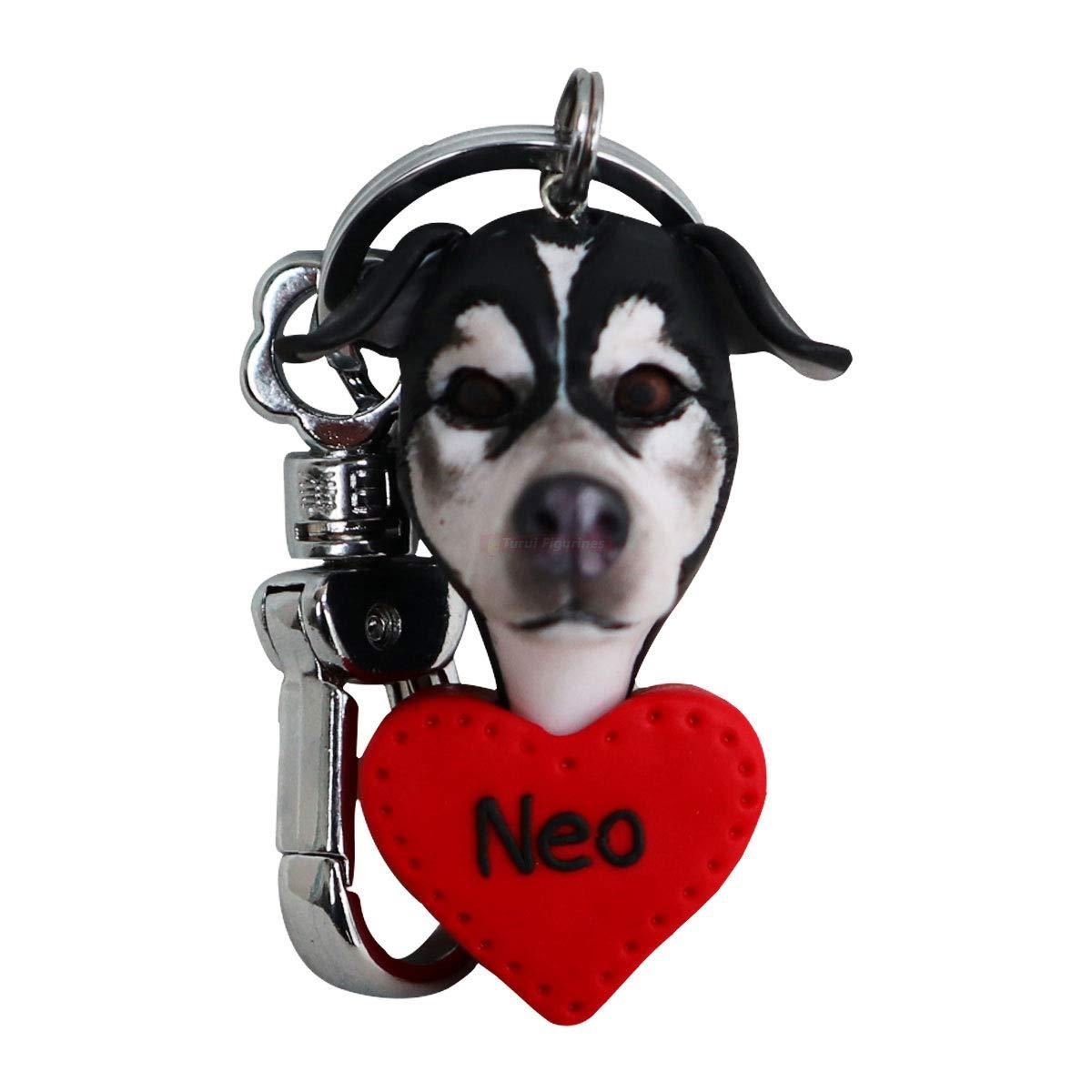 Llavero personalizado de la joyería del regalo conmemorativo Pérdida de mascota - Encanto conmemorativo hecho a medida Perro Gato Artesanía DIY - Amigo de la familia