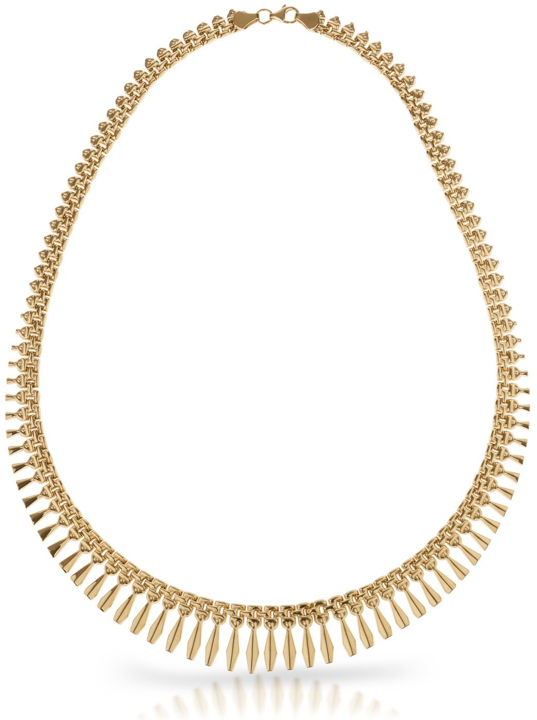 SilverLuxe 18kt Gold over Sterling Silver Graduated Design Bib Style Cleopatra Necklace
