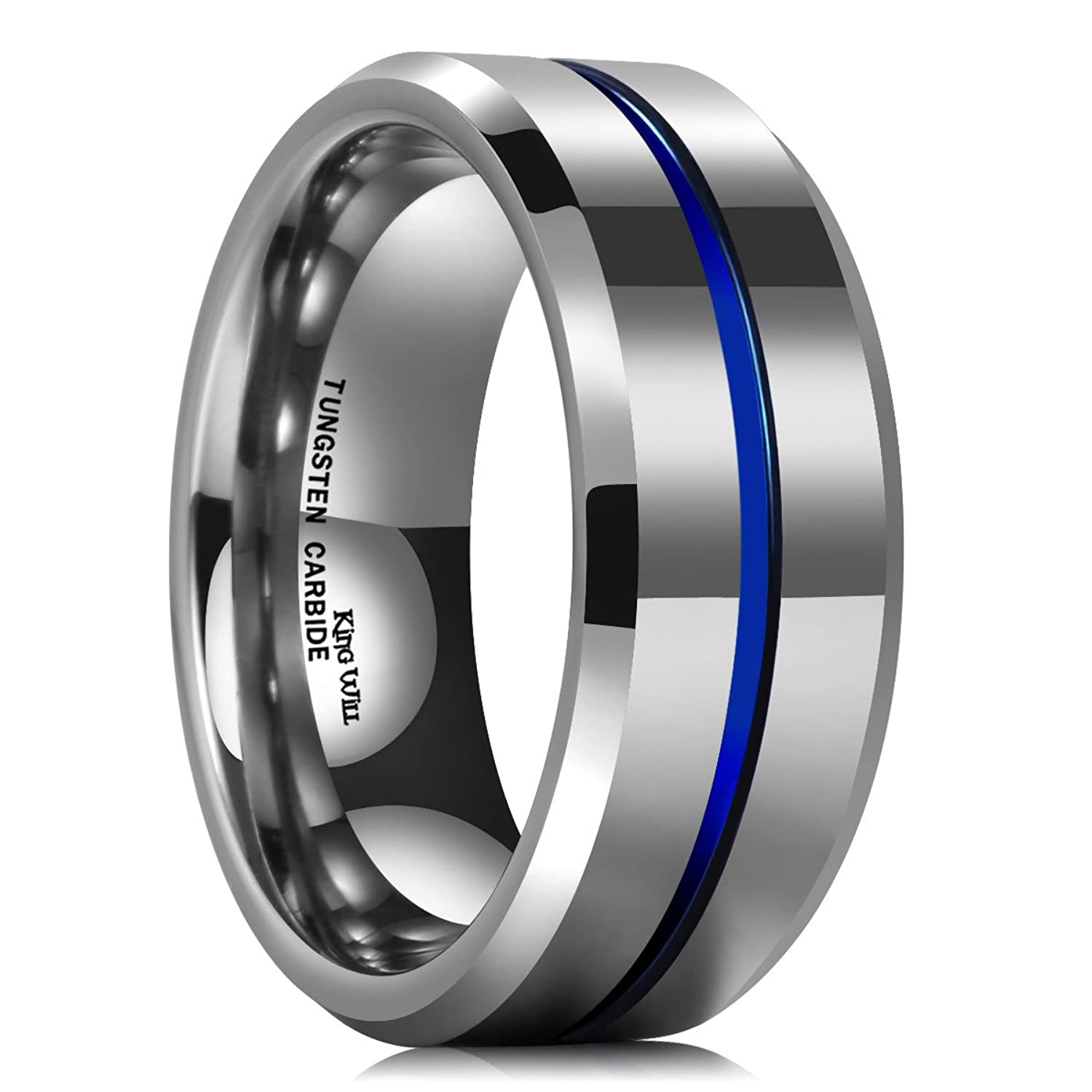 band tungsten white sapphire black carbide and products wedding eternity rings engagement