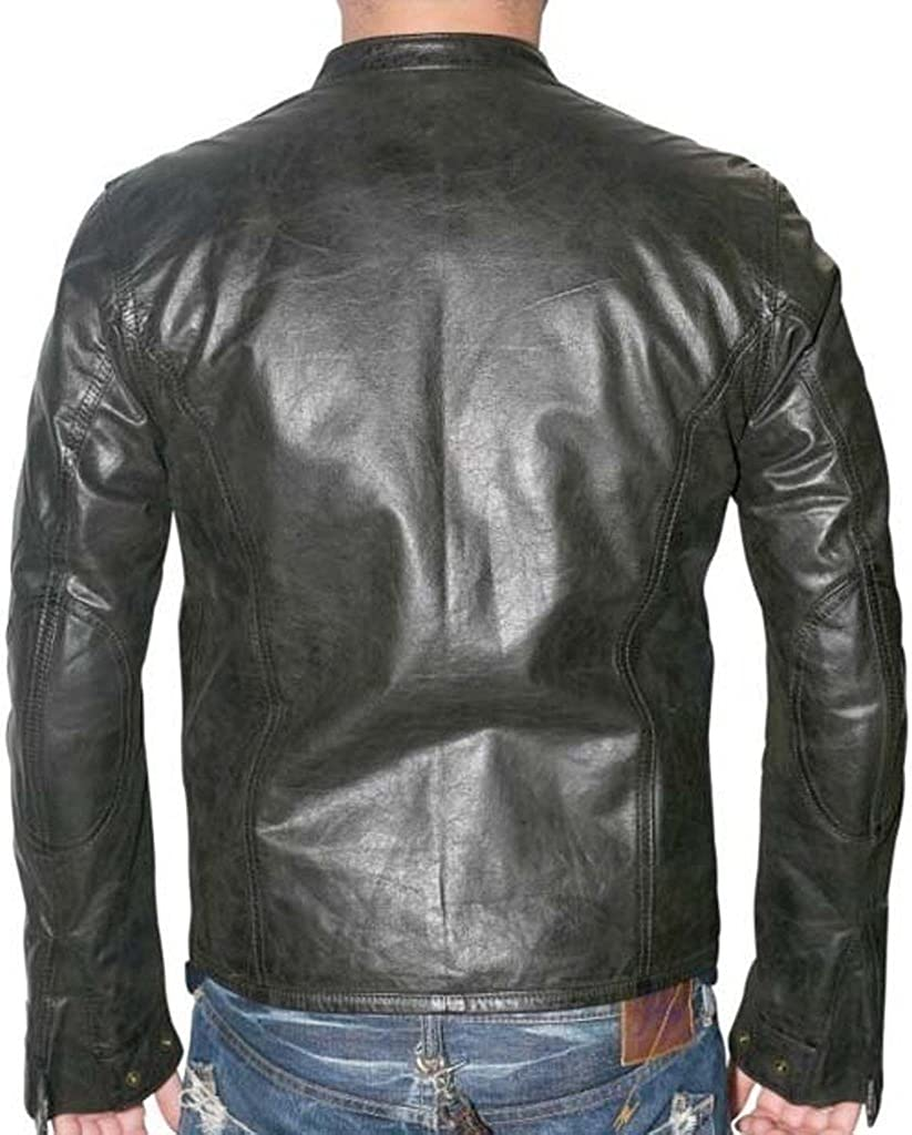 New Motorcycle Designer Styles Mens Genuine Leather Jacket LF786
