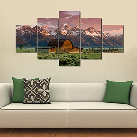 Art Work For Home Walls A Barn In Grand Teton National Park,Wyoming  Pictures Painting