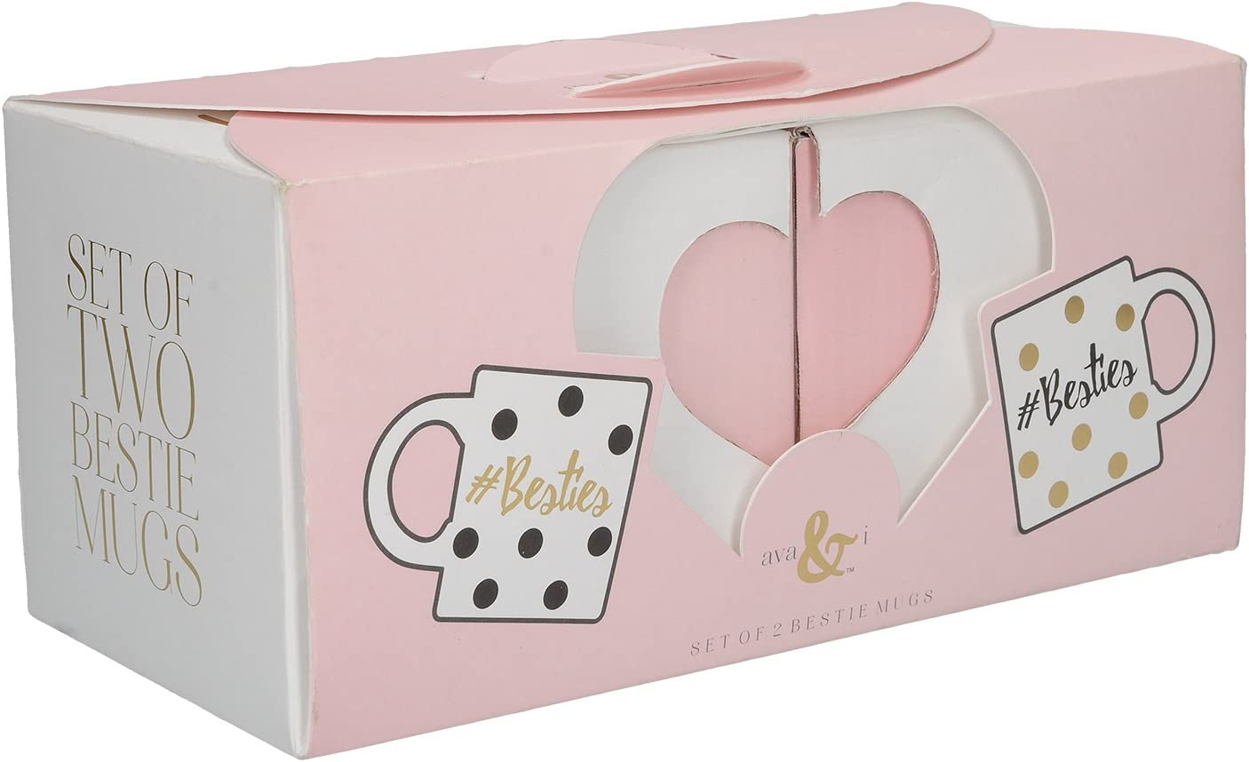 Creative Tops Ava /& I Besties Set of 2 Fine China Mugs with a Gift Box 12 fl oz. 350 ml