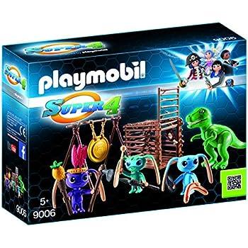 Amazon.com: Playmobil 9006 Super 4 Alien Warrior with T-Rex ...