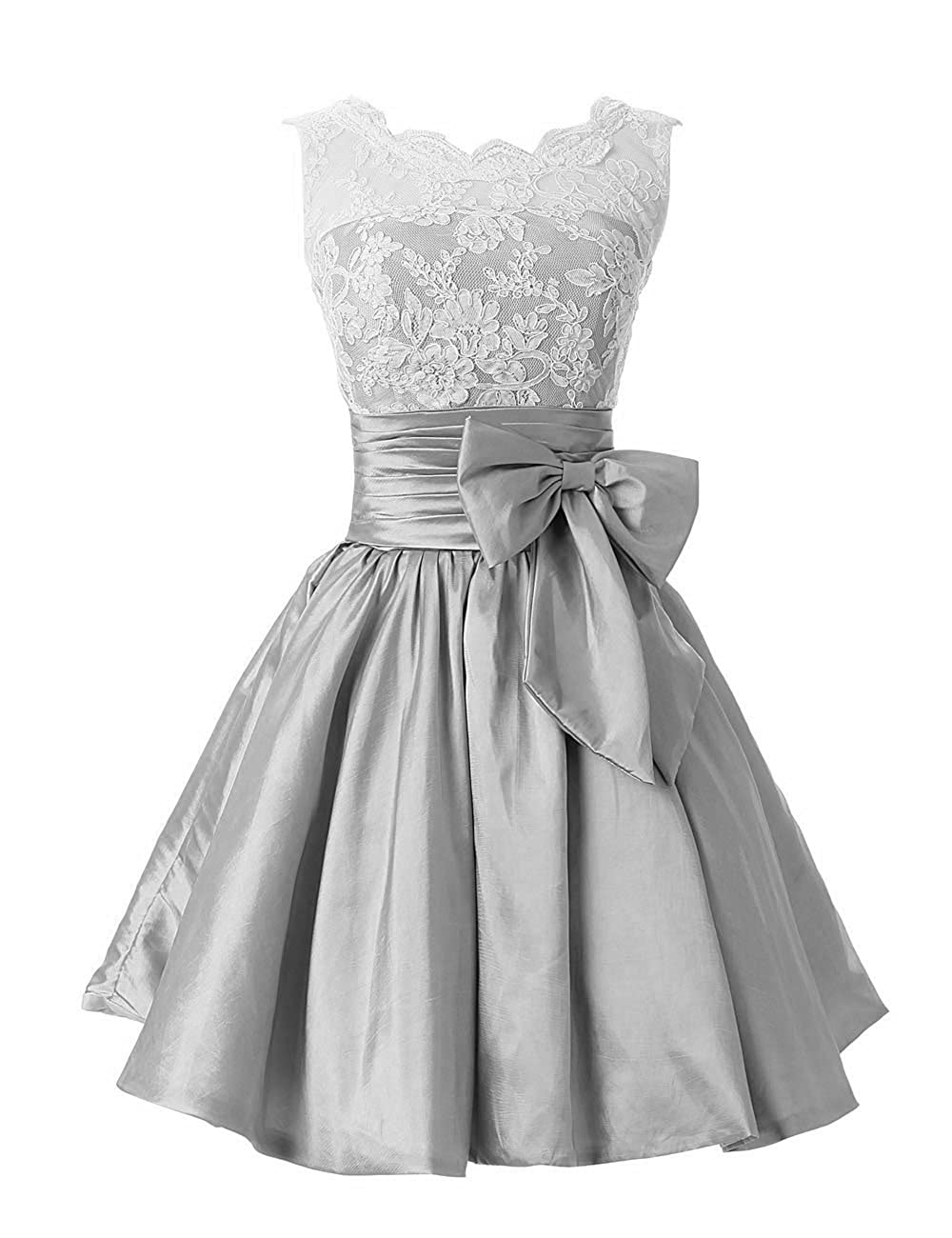 Silver Short Bridesmaid Dress