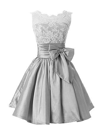 Taffeta Silver Dress