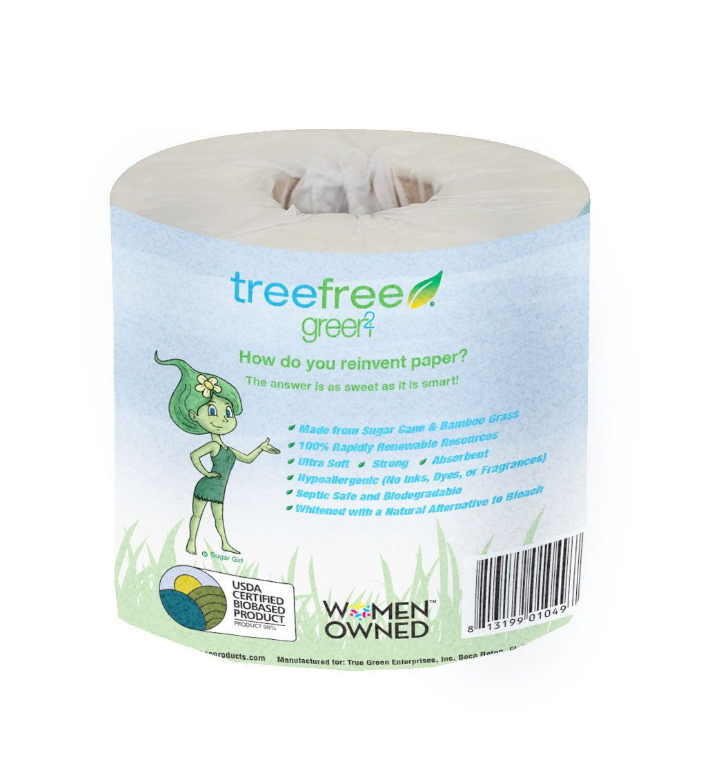 Amazon.com: Green2 Tree Free 2 Ply Bathroom Tissue, 48 Count ...