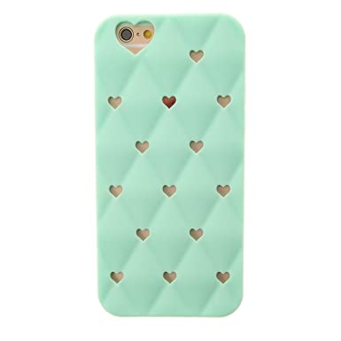 sports shoes 2aed1 b0baa Claire's Girls and Womens Mint Heart Cutout Phone Case - Iphone 6/6S ...