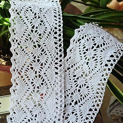 Yulakes 3 Yard 8cm Baumwolle spitzenband Vintage H/äkelband Spitze Borte H/äkelspitze H/äkel-Borte Spitzenband f/ür N/ähen Handwerk Hochzeit Deko Scrapbooking Geschenkbox beige