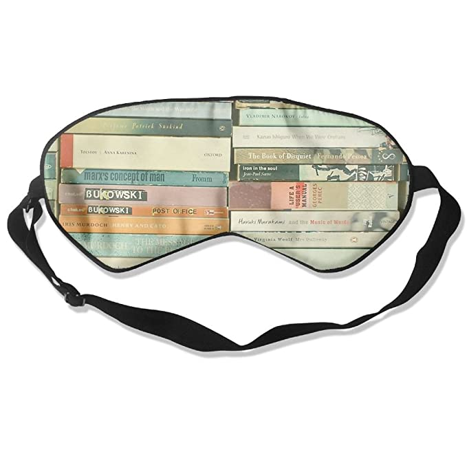 b332f5ddb18 Amazon.com  Lnrd Bookworm No Pressure Blindfold Soft Silk Adjustable Eye  Cover  Clothing