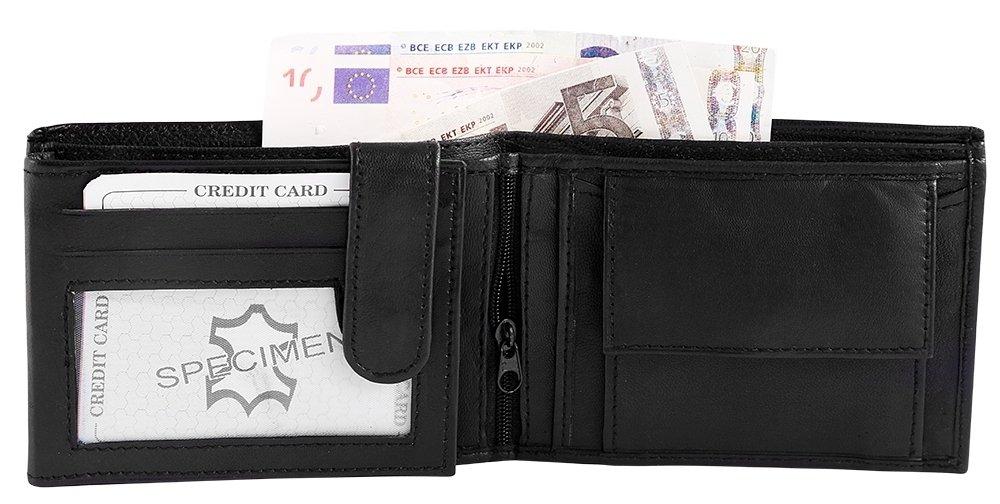 0384c1955d67a Monopol Herrengeldbörse aus Lammleder. Format 12 x 9 cm  Amazon.de  Koffer