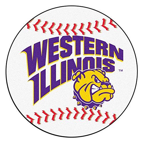 Illinois University Baseball Rug (FANMATS NCAA Western Illinois University Bulldogs Nylon Face Baseball Rug)