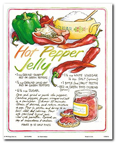 Homemade Hot Pepper Jelly Recipe Kitchen Wall Decor Art