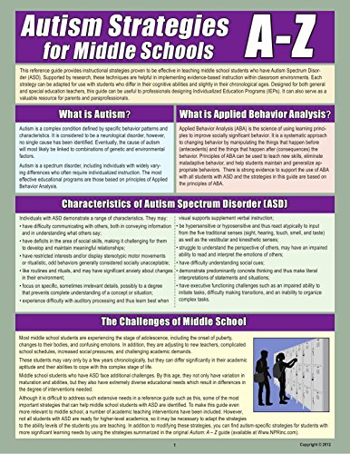 Autism Strategies for Middle School A-Z