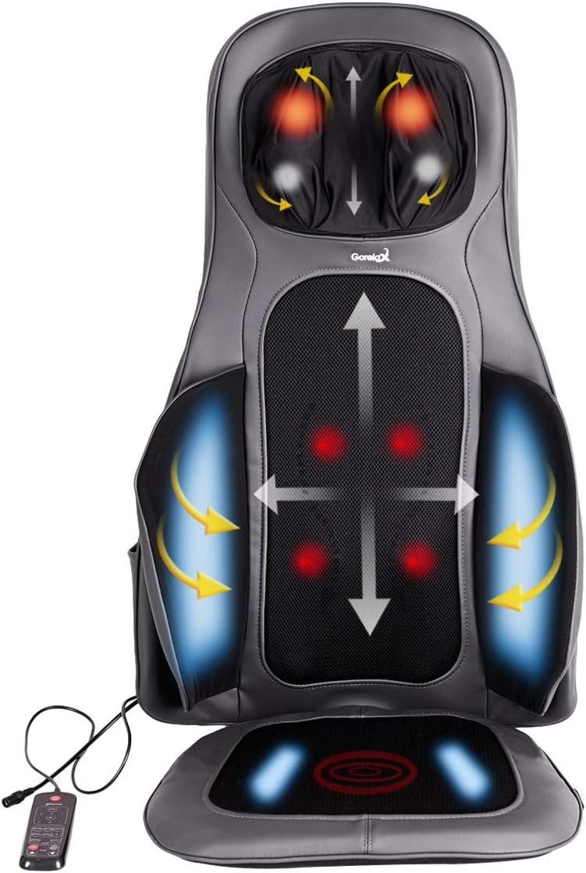 Giantex Back and Neck Massager Shiatsu Massage Seat Cushion with Heat, Full Back Deep Kneading Massage Mat