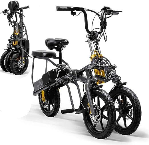 Bicicleta Electrica Plegable Tres Ruedas Scooter de hasta 30 Km/H, con Motor de 350W, 48V 15.6Ah Batería, Tres Modos de Velocidad: Amazon.es: Hogar