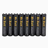 AAA Rechargeable Batteries (8 Pack) NiMh 1.2V 1000mAh High Capacity Low Self Discharge