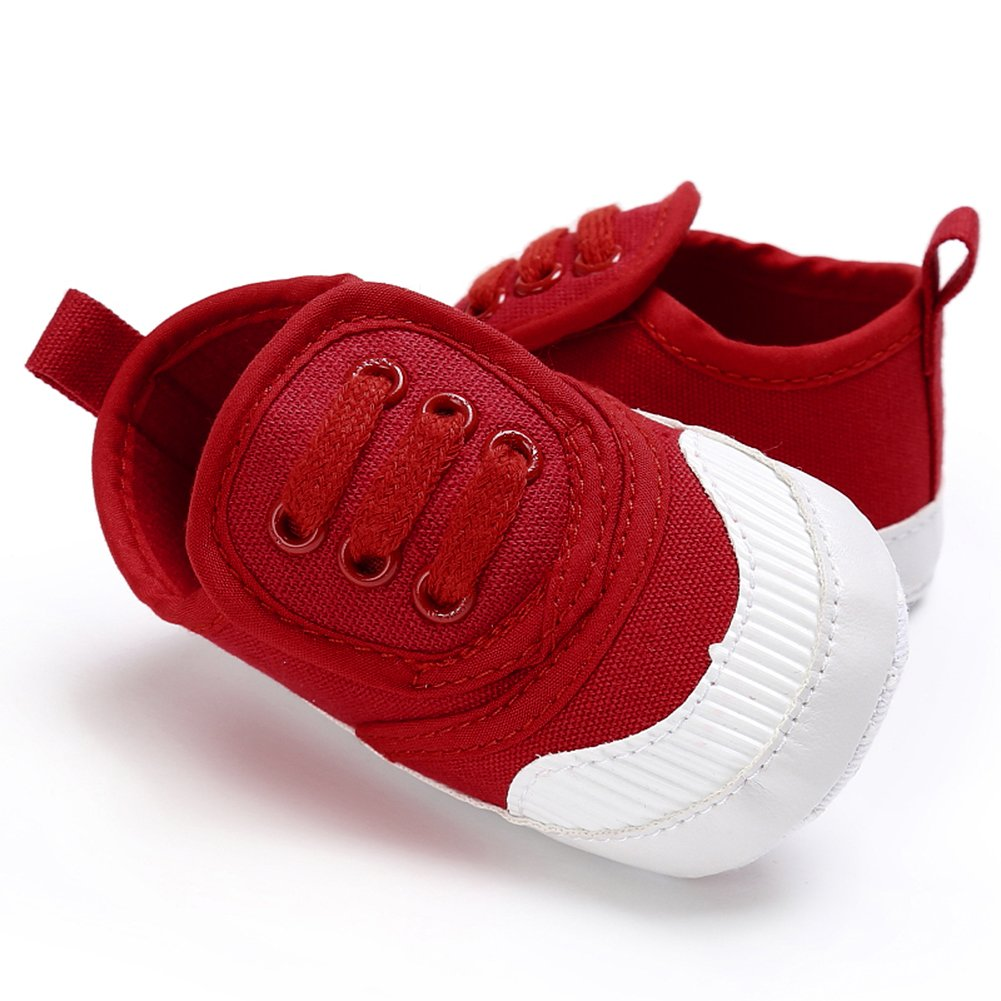 chinatera Spring Autumn Baby Boys Girls First Walkers Toddler Indoor Outdoor Canvas Sneaker Prewalkers