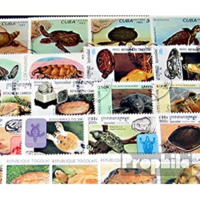 Motives 50 Different Turtles Stamps (Stamps for Collectors) Amphibians/Reptiles/Dinosaurs: Toys & Games