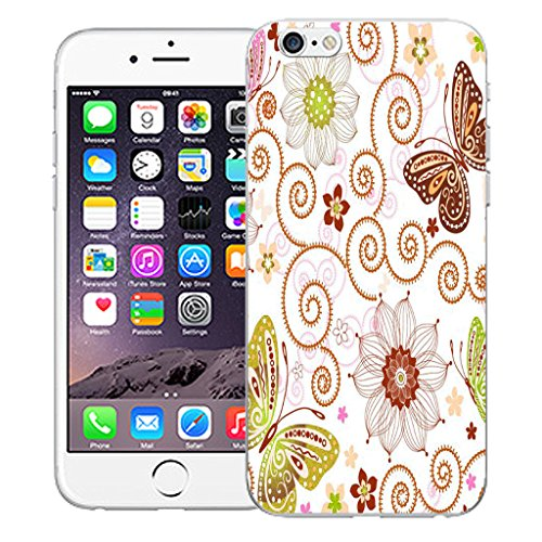 """Mobile Case Mate iPhone 6 Plus 5.5"""" Silicone Coque couverture case cover Pare-chocs + STYLET - Classic Butterfly pattern (SILICON)"""