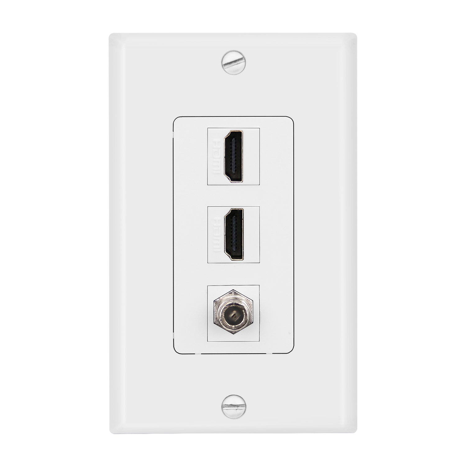 outlet IMONTA 1-Gang 3 Port Wall Plate, 2 HDMI HDTV ...