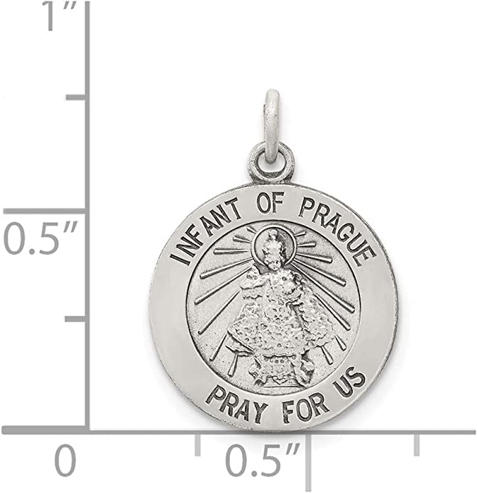 925 Sterling Silver Infant Of Prague Medal Pendant Charm Necklace Religious Fine Jewelry For Women Gifts For Her