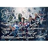 """Large Avengers Movie Print RDJ, Stan Lee, Joss Whedon, Mark Ruffalo, Tom Hiddleston, Scarlett Johansson, Samuel L Jackson, Chris Hemsworth, Chris Evans, Clark Gregg, Jeremy Renner (11.7"""" x 16.5"""")"""