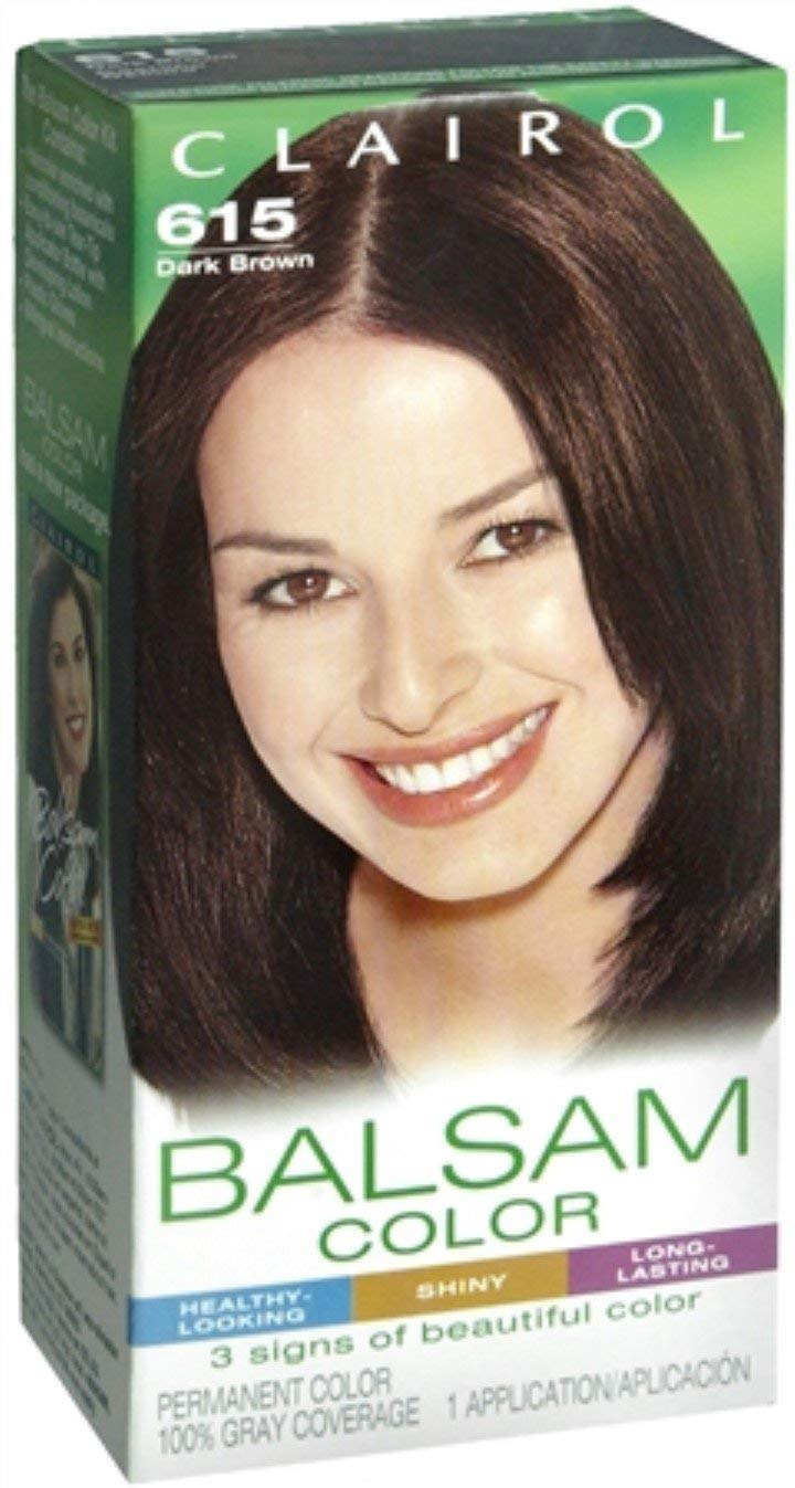 Amazon.com : Clairol Balsam Hair Color, Dark Brown (615) : Chemical Hair Dyes : Beauty