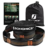 SONGMICS Set of 2 Hammock Tree Straps Adjustable Suspension Kit 2200lbs Breaking Strength, No Stretch, 32 Loops UGDC301