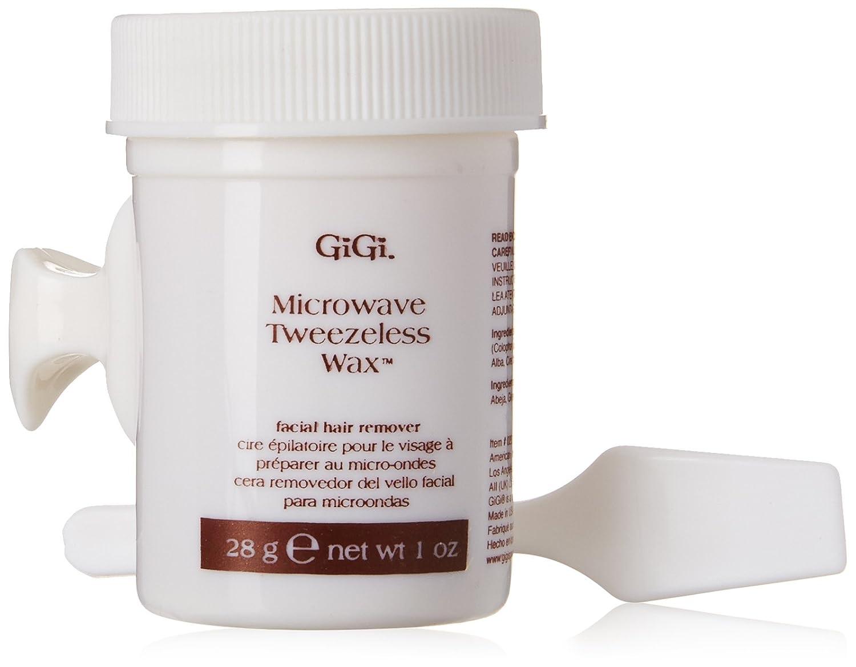 GIGI Microwave Tweezeless Wax Facial Hair Remover #0255, White, 1 Oz