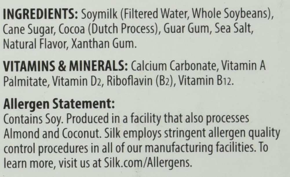 Silk Soymilk Chocolate 8 Ounce (Pack of 12), Chocolate Flavored Non-Dairy Soy Milk, Vegan, Plant-based, Individually Packaged: Amazon.com: Grocery & Gourmet ...