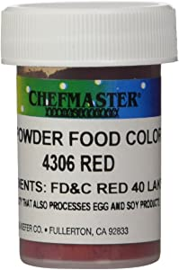 Chefmaster Powder Candy Color, 3gm, Red