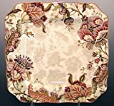 222 Fifth Gabrielle Cream Dinner Plates, Set of 4, Square