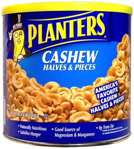 Planters-Cashews Halves/Pieces, 46 oz. canister