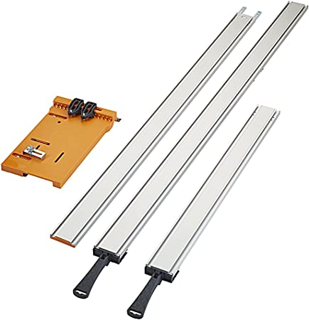 """24/"""" Clamping Straight Edge Clamp and Cut Guide Jig Saw Kit Jigsaw Adjustable"""
