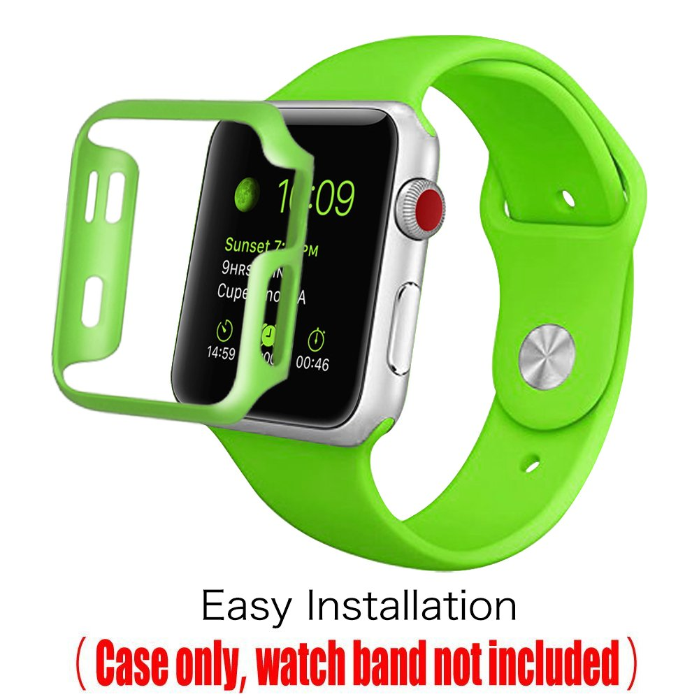 [3 Color Pack] Fintie for Apple Watch Case 38mm, Slim Lightweight Polycarbonate Hard Protective Bumper Cover for All Versions 38mm iWatch Series 3 (2017), Series 2 1 Sport & Edition - Multi Color C by Fintie (Image #5)