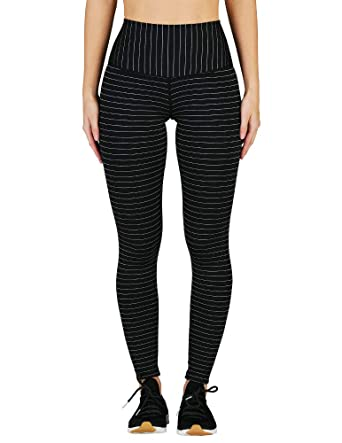 eb1ea7b877bbd Glyder Sultry Legging: Black/Silver Shimmer Stripe at Amazon Women's ...