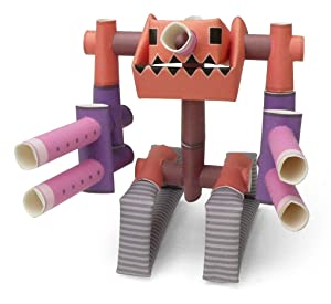 PIPEROID Paper Pipe Robot Cannon Bull - Japanese Paper Craft Building Models from Paper Sticks - Perfect for Art & Origami Fans and Birthday Party Favors