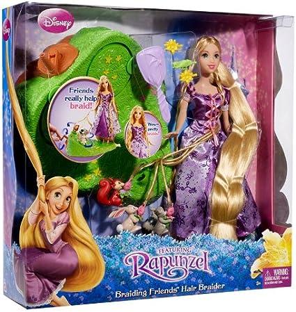 Amazon Com Disney Tangled Featuring Rapunzel Braiding Friends Hair Braider Toys Games