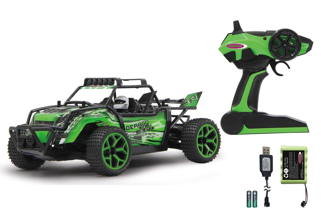 Jamara 410012 - Derago XP1 4WD 4WD 4WD 2,4G grün – RTR, Allradantrieb, proportionaler Fahrtenregler, gefedertes Fahrwerk vorn, Spur einstellbar, Gummibereifung,stabiler Überrollbügel,Rammschutz vorne / hinten 1b59d7
