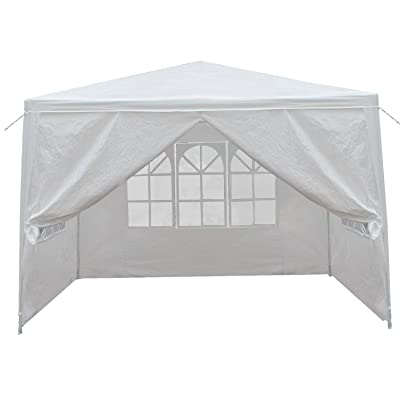 LEMY 10 X 10 Outdoor Wedding Party Tent Camping Shelter Gazebo Canopy with Removable Sidewalls Easy Set Gazebo BBQ Pavilion Canopy Cater Events (10x10): Sports & Outdoors