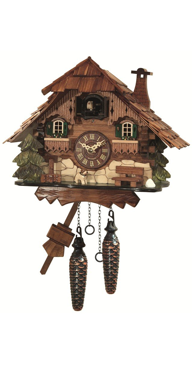 Engstler Quartz Cuckoo Clock Black forest house EN 414 Q