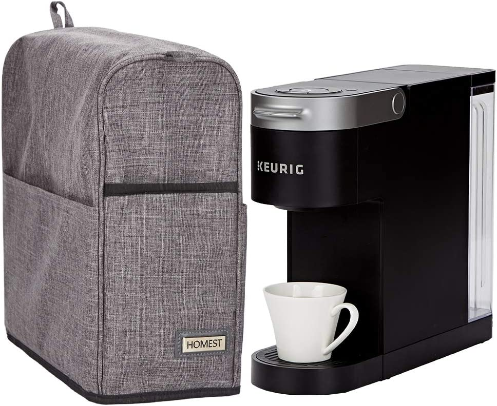 HOMEST Dust Cover for Keurig K-Slim Coffee Maker, Single Serve K-Cup Pod Coffee Brewer, Not Applicable to K-Mini, Grey (Patent pending)
