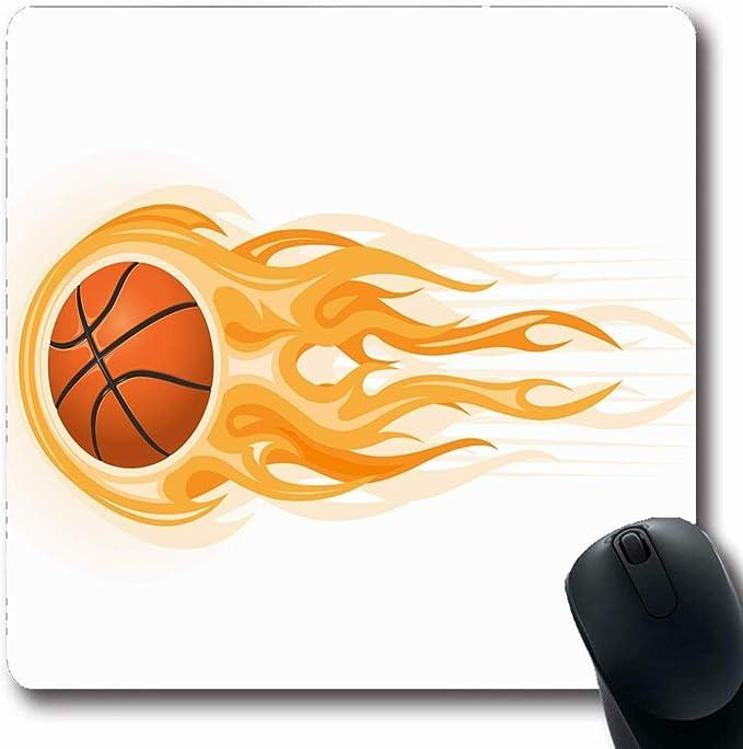 Alfombrilla de ratón Ojalá Recreación Fuego Baloncesto Pelota Clip ...