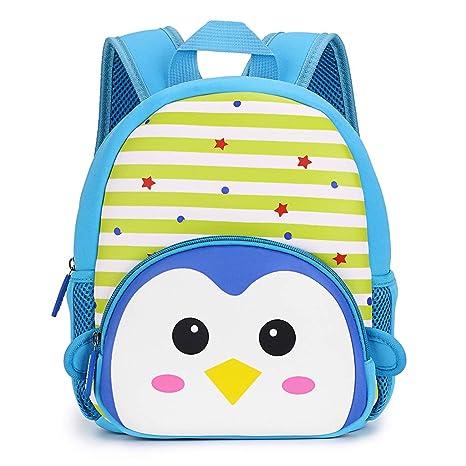 387094c2ed72 Hipiwe Little Kid Toddler Backpack Baby Boys Girls Kindergarten Pre School  Bags Cute Neoprene Cartoon Backpacks