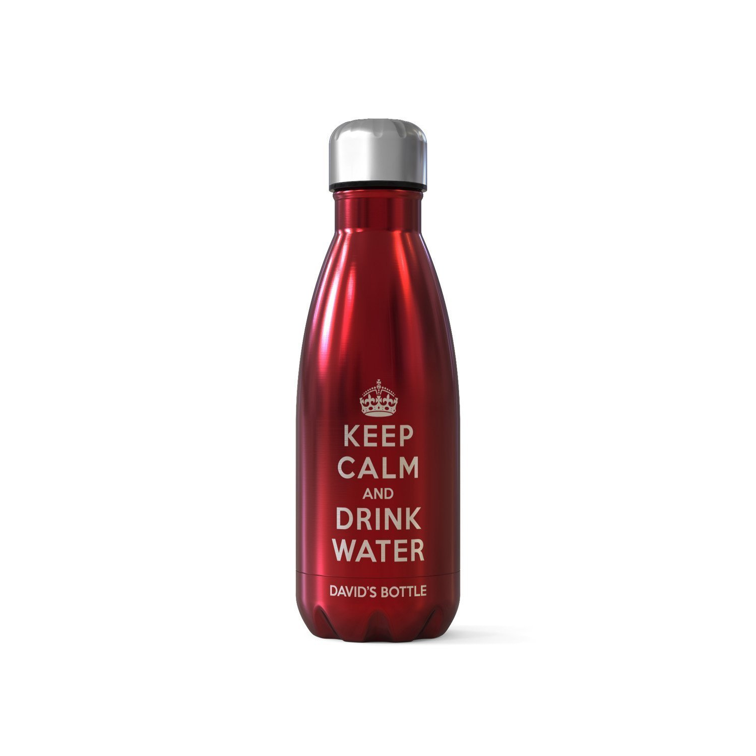Personalised Bottle Flask - Keep Calm and Drink Water